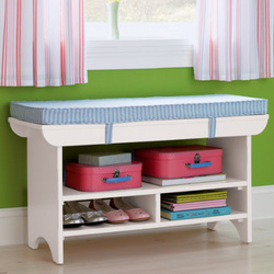 LAND OF NOD BENCHES AND TOY BOXES